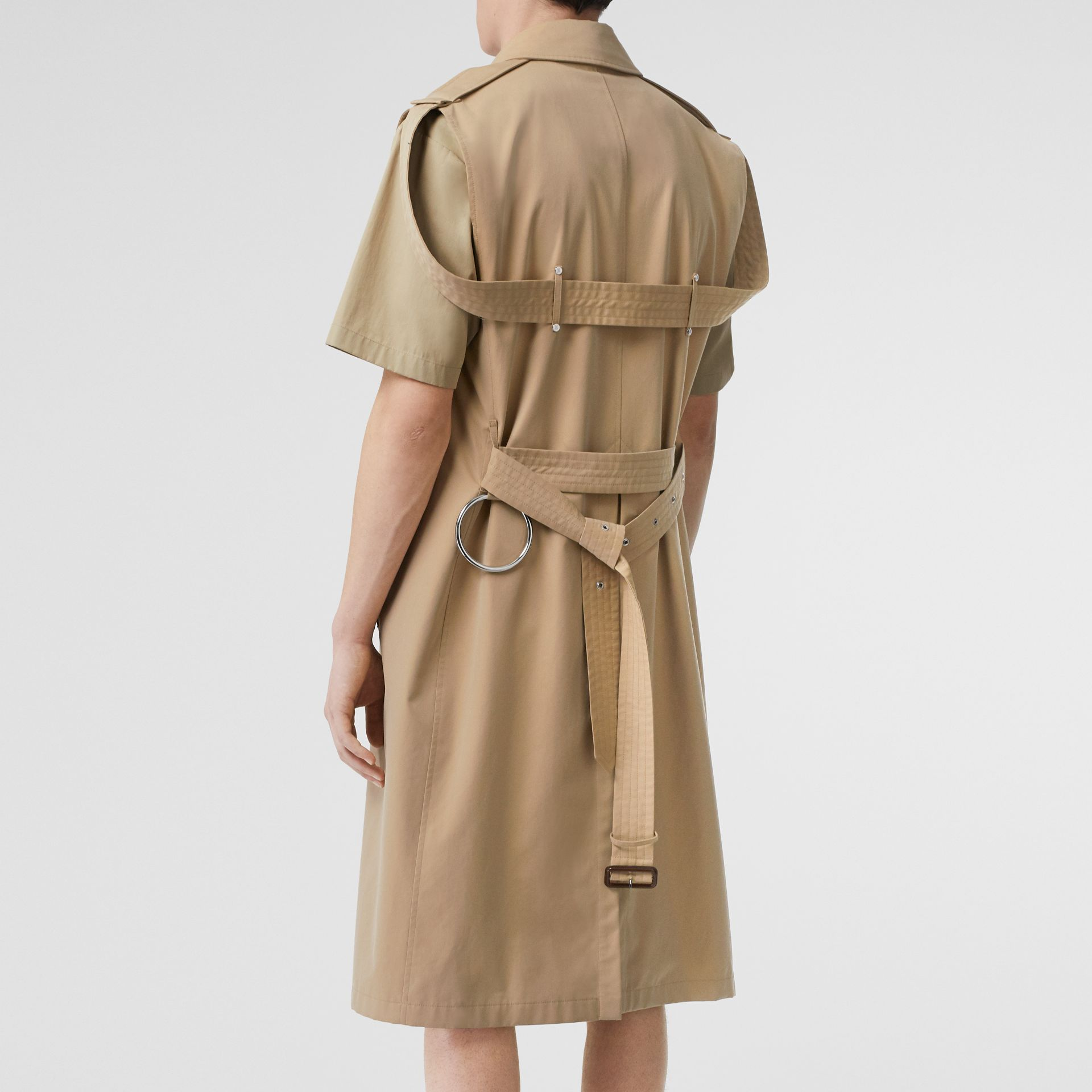 Sleeveless Cotton Gabardine Trench Coat in Honey | Burberry Australia - gallery image 1