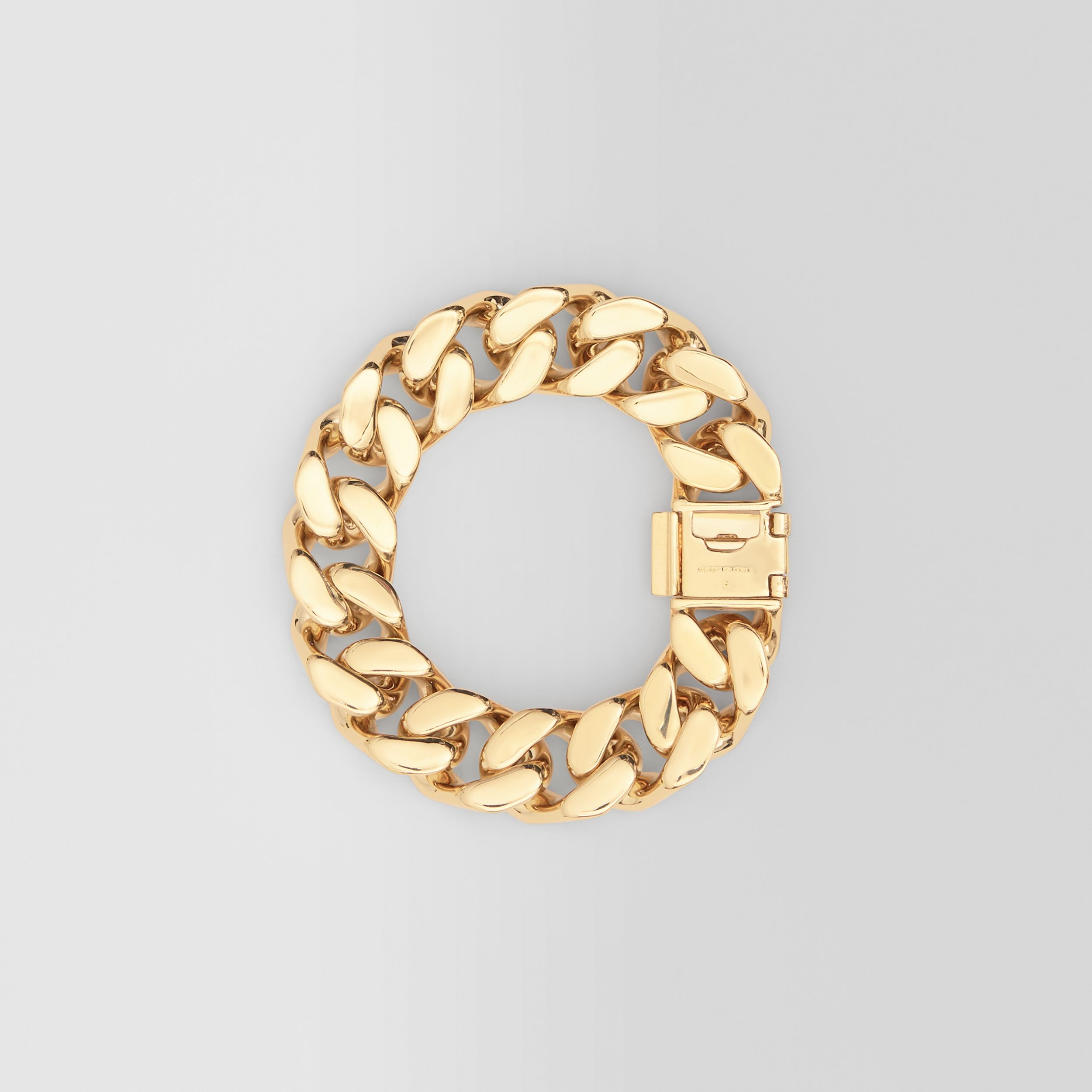 Enamel Detail Gold-plated Chain-link Bracelet in Light Gold/white/blue | Burberry - 4