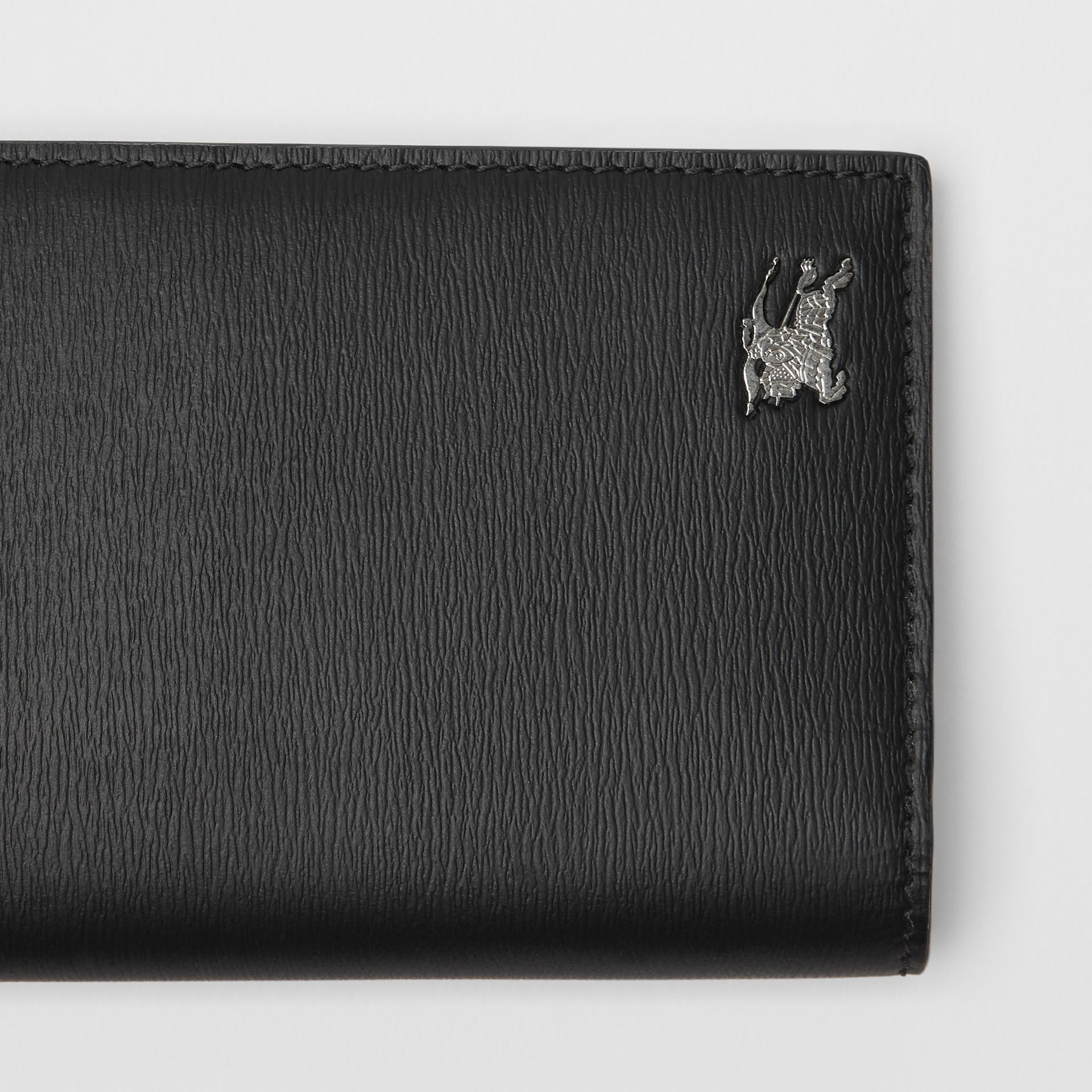 London Leather Continental Wallet in Black - Men | Burberry United States - gallery image 1