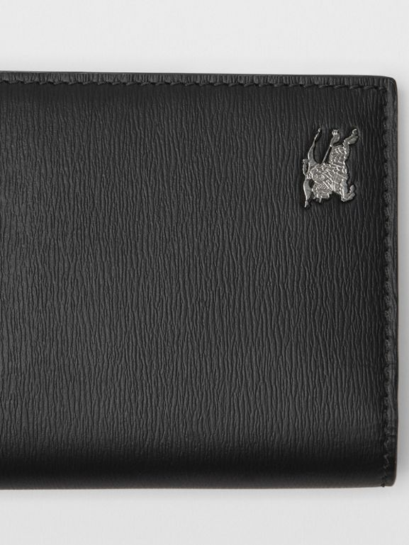 London Leather Continental Wallet in Black - Men | Burberry United States - cell image 1