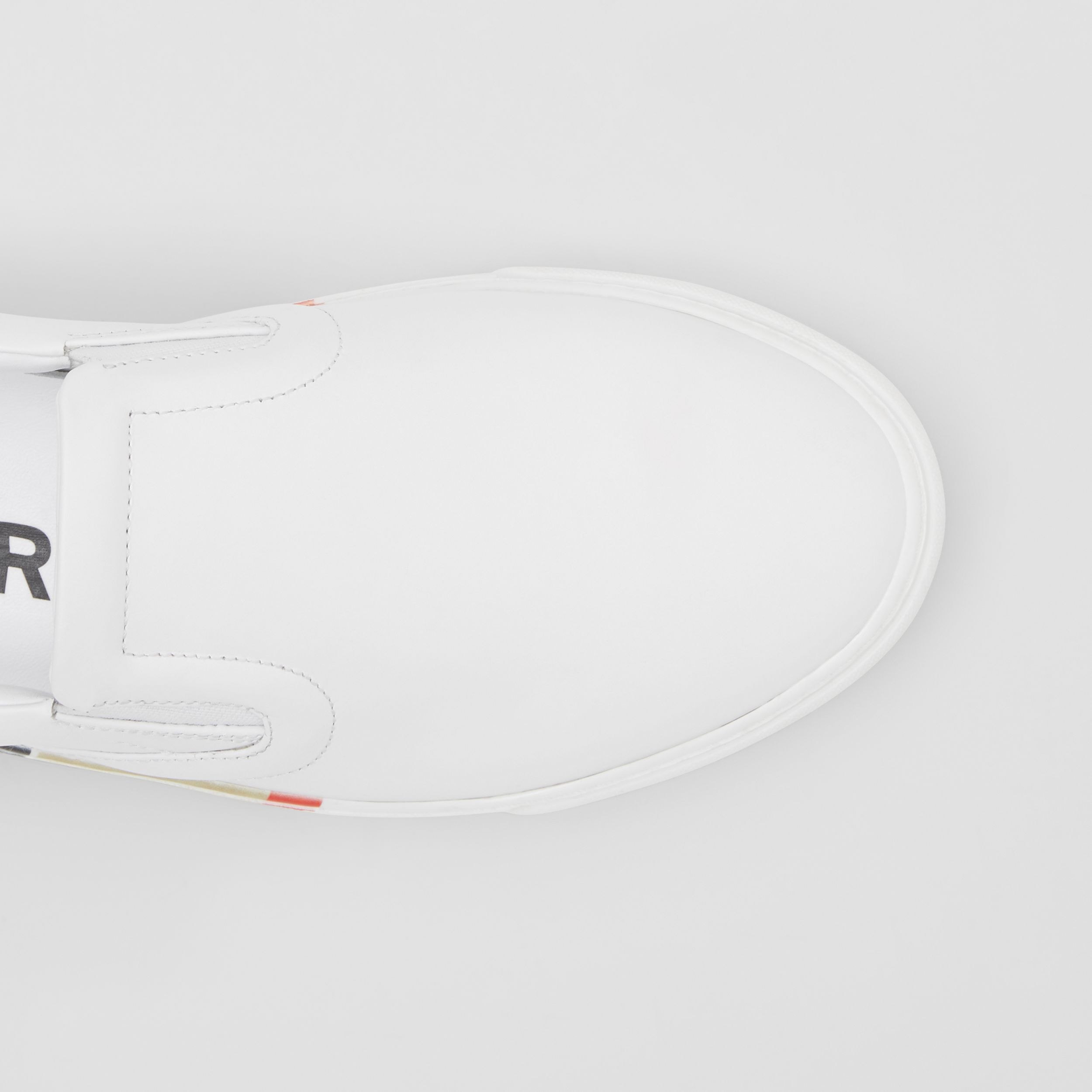 Bio-based Sole Leather Slip-on Sneakers in Optic White - Women | Burberry - 2