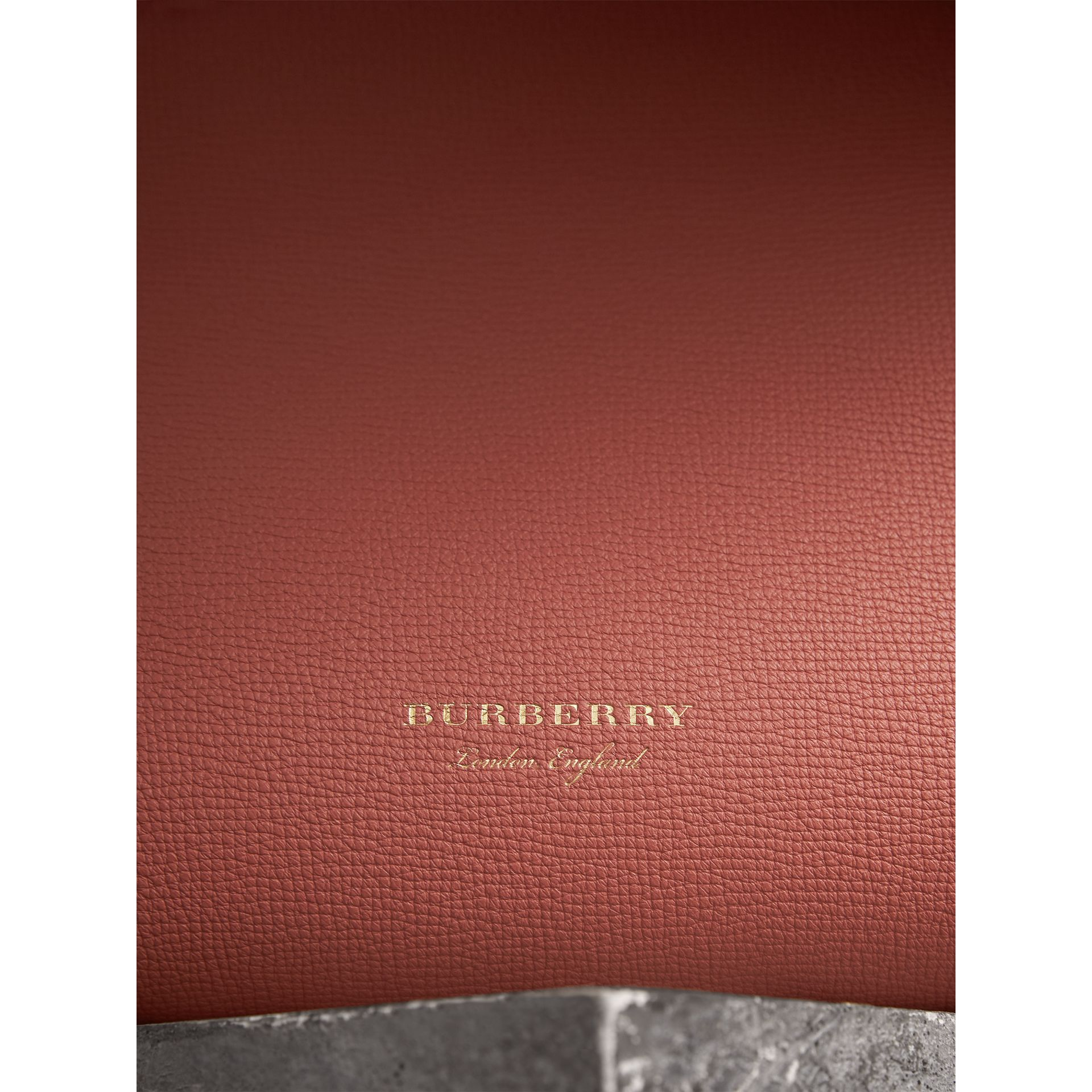 The Medium Banner in Leather with  Tonal Appliqué in Copper Pink - Women | Burberry - gallery image 2