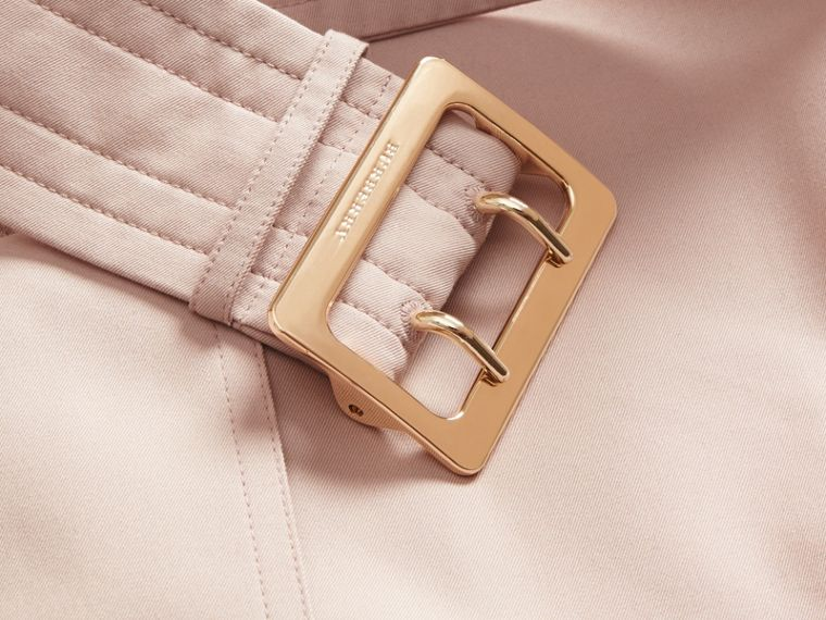 Single-breasted Trench Coat with Metal Buckle Detail Ice Pink - cell image 1