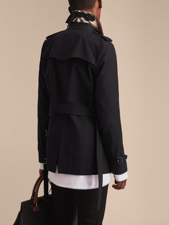 Black The Kensington – Short Heritage Trench Coat Black - cell image 3