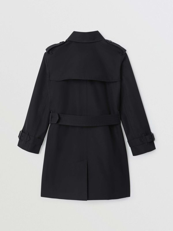 Cotton Gabardine Trench Coat in Black | Burberry - cell image 3