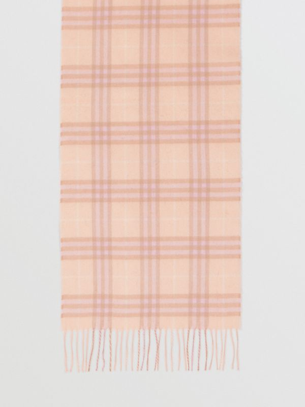 The Classic Vintage Check Cashmere Scarf in Dusty Pink | Burberry Canada - cell image 2