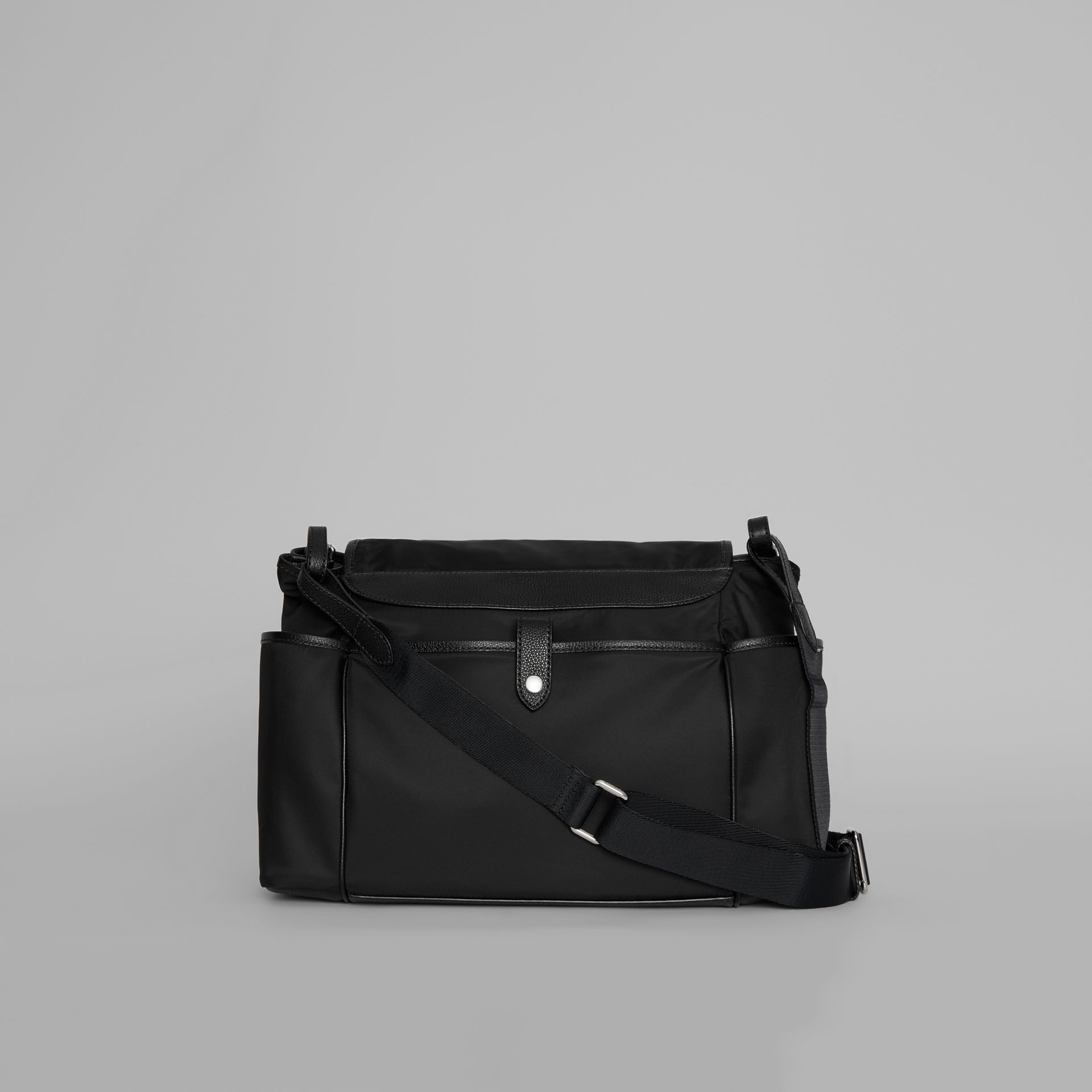 Leather Trim Baby Changing Shoulder Bag in Black - Children | Burberry - gallery image 5