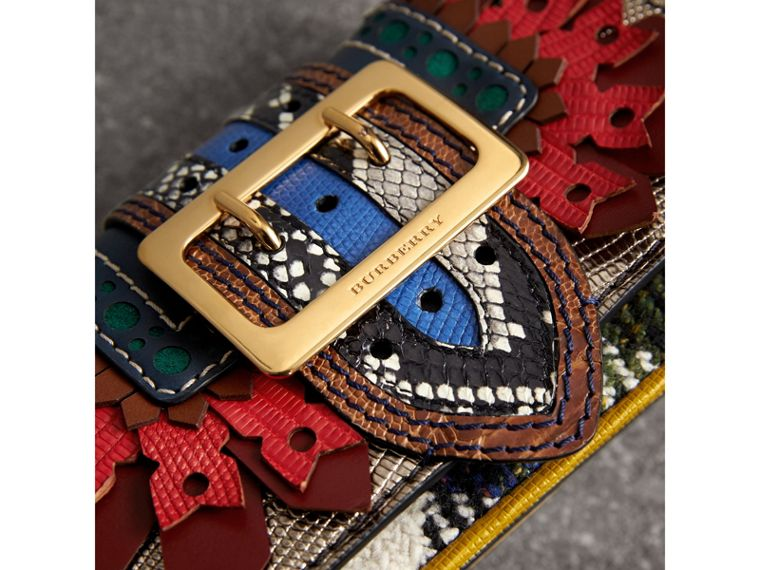 The Patchwork in Exotics and Punched Leather in Yellow/plum - Women | Burberry Hong Kong - cell image 1