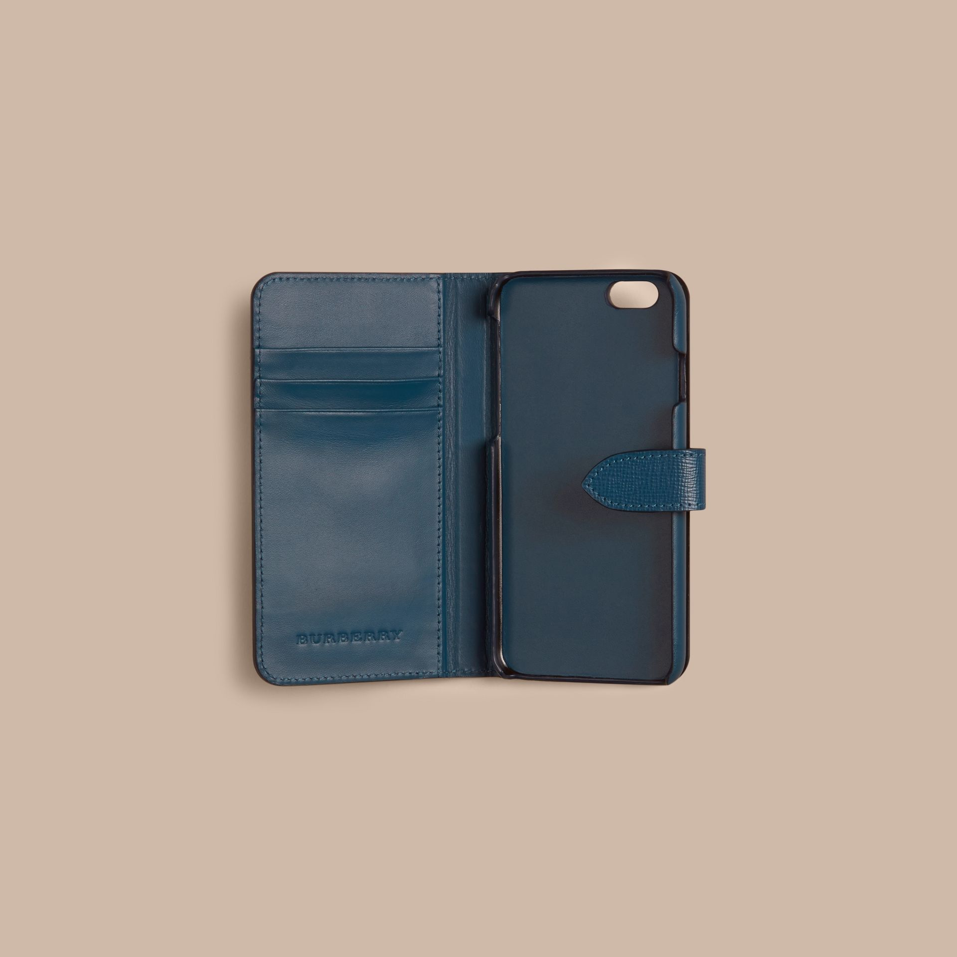 Mineral blue London Leather iPhone 6 Flip Case Mineral Blue - gallery image 2
