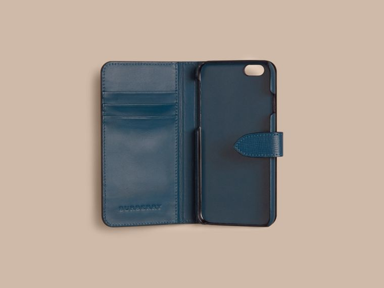 Mineral blue London Leather iPhone 6 Flip Case Mineral Blue - cell image 1