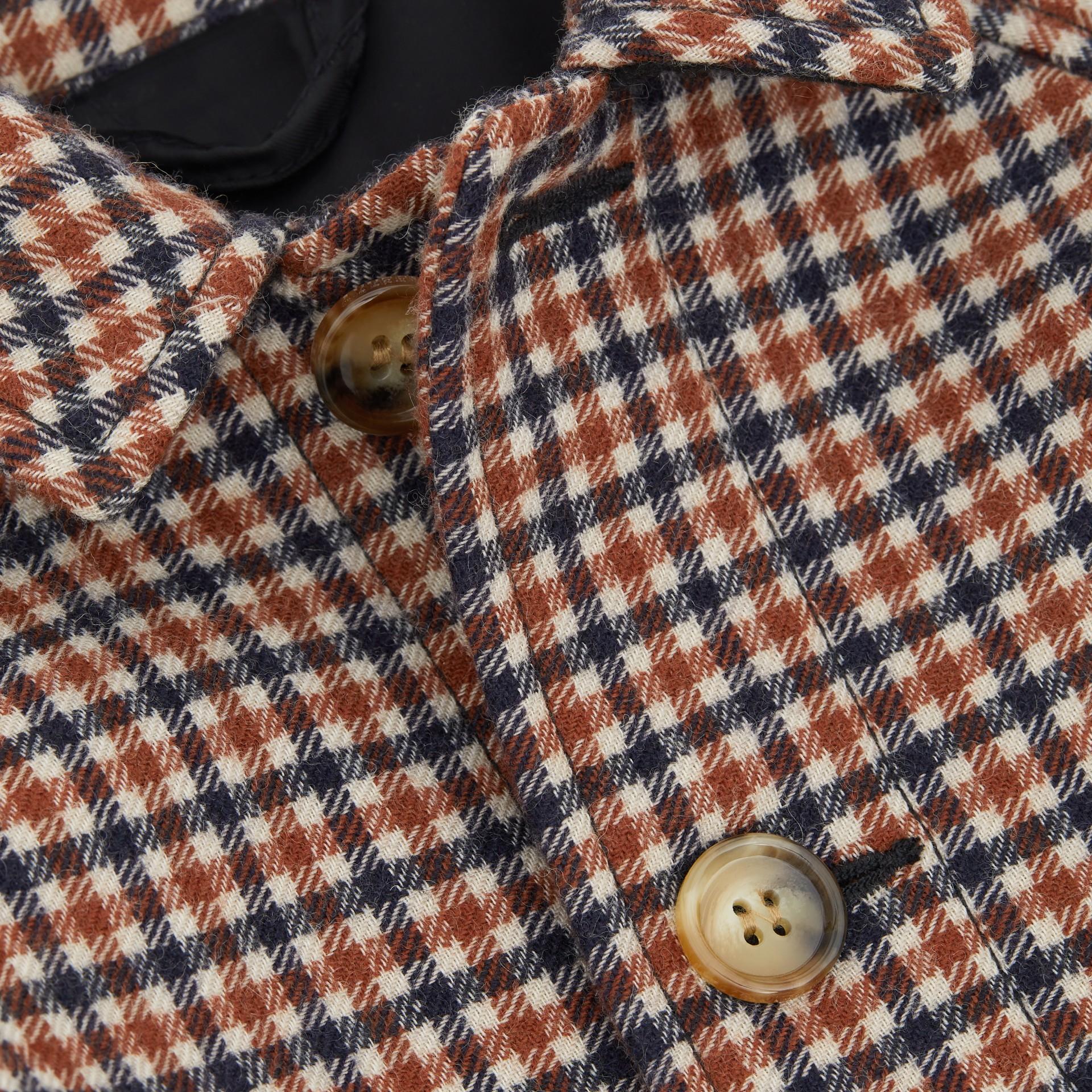 Check Wool Coat in Rust Brown - Children | Burberry - gallery image 1
