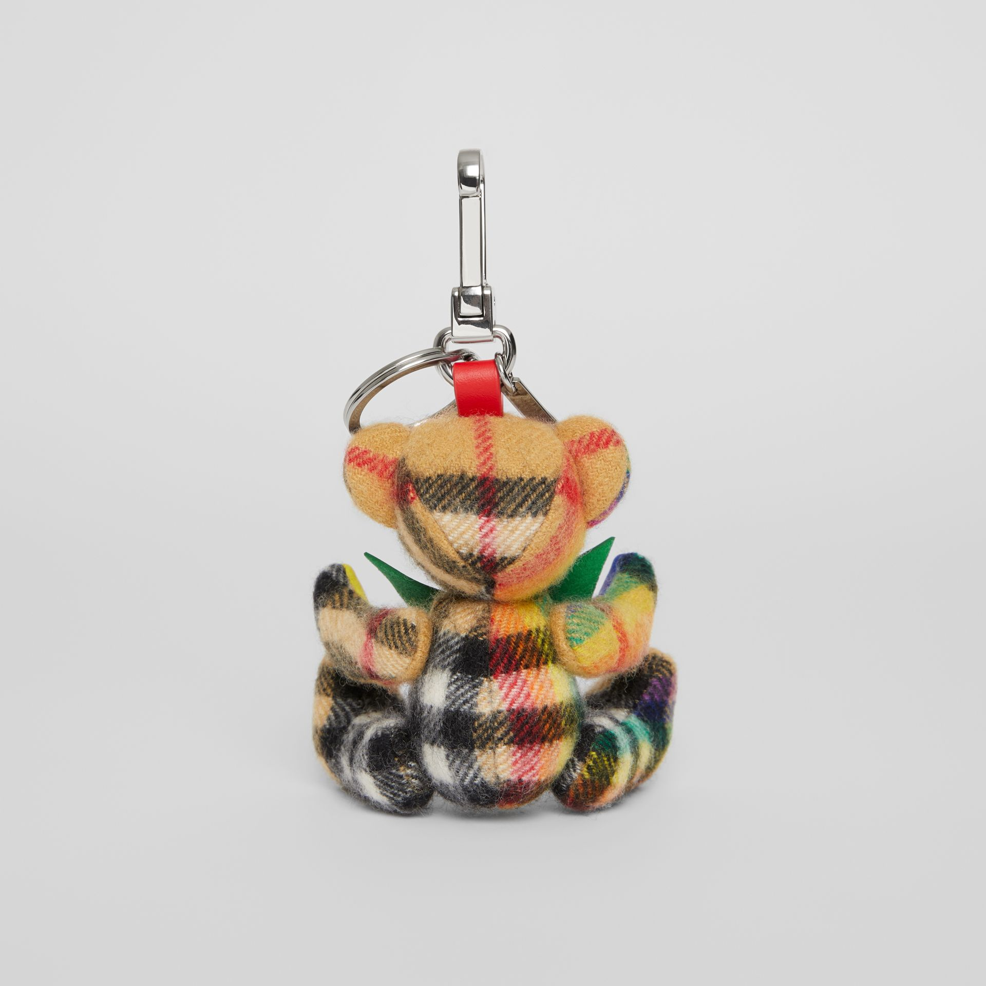 Thomas Bear Charm in Rainbow Vintage Check Cashmere in Multicolour/ Antique Yellow | Burberry United Kingdom - gallery image 3