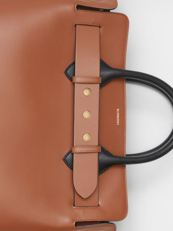 Borsa The Belt media in pelle con tre borchie (Marrone Malto) - Donna | Burberry - cell image 1