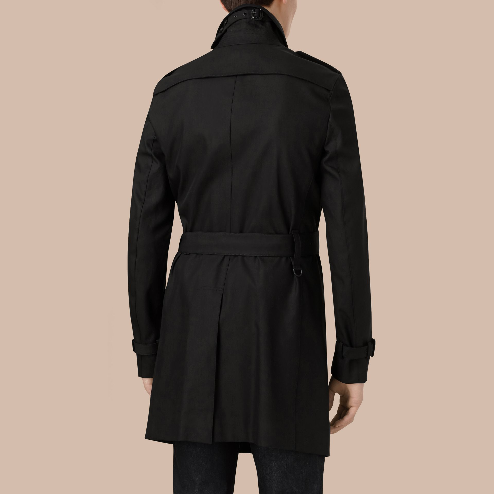 Noir Trench-coat en gabardine de coton - photo de la galerie 3