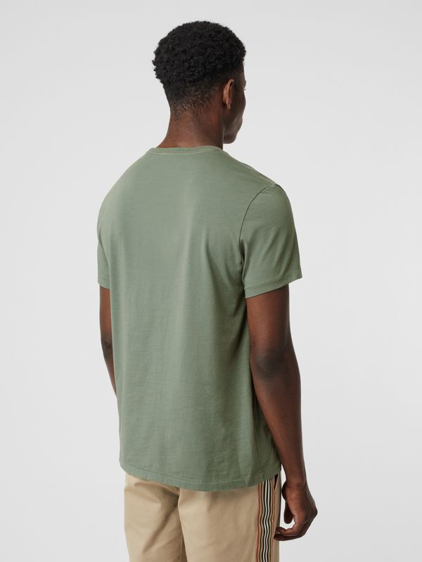 Cotton T-shirt in Clay Green - Men | Burberry - cell image 2