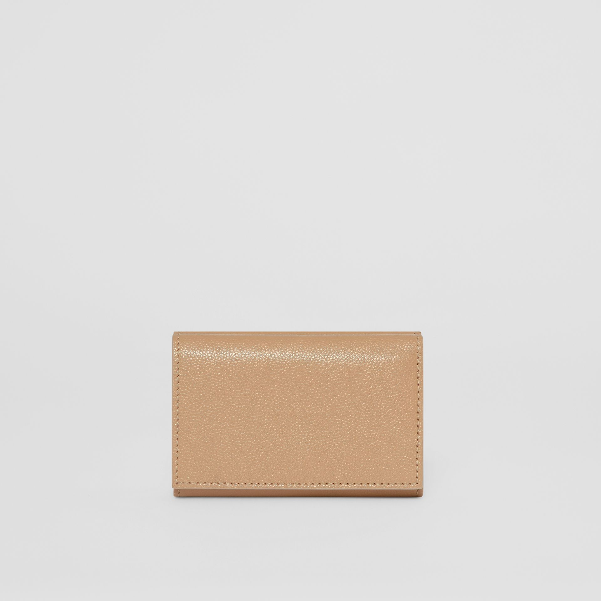 Small Grainy Leather Folding Wallet in Archive Beige - Women | Burberry Australia - gallery image 4