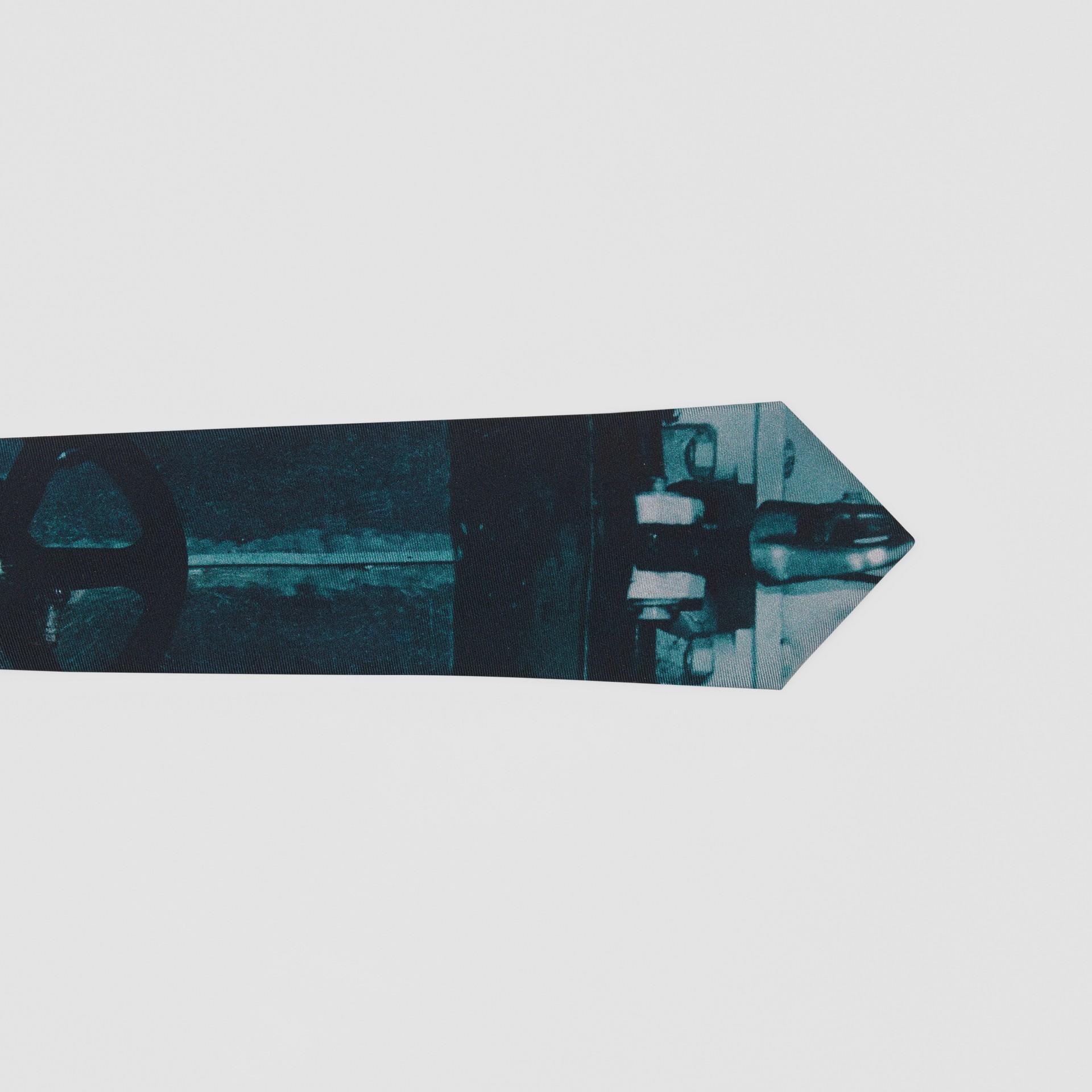 Classic Cut Submarine Print Silk Tie in Deep Teal - Men | Burberry Australia - gallery image 1