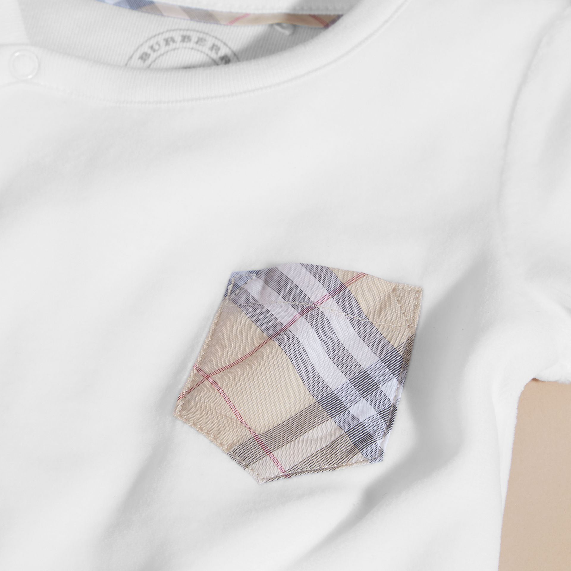 Check Detail Cotton Blend All-in-one | Burberry - gallery image 2
