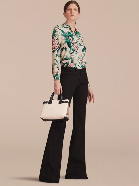 The Small Banner in Leather and House Check - Women | Burberry - cell image 2