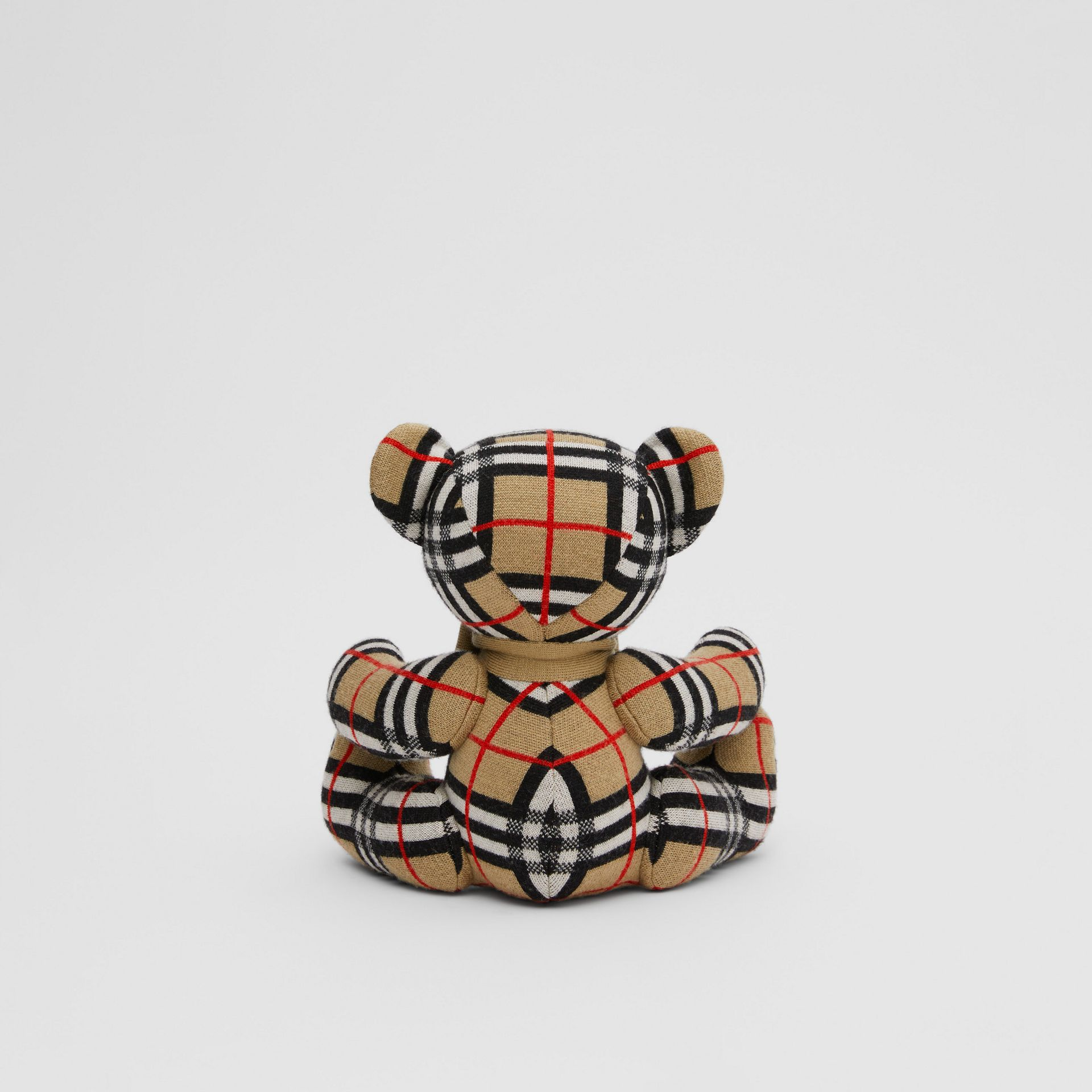 Check Merino Wool Thomas Bear in Archive Beige - Children | Burberry United States - gallery image 4