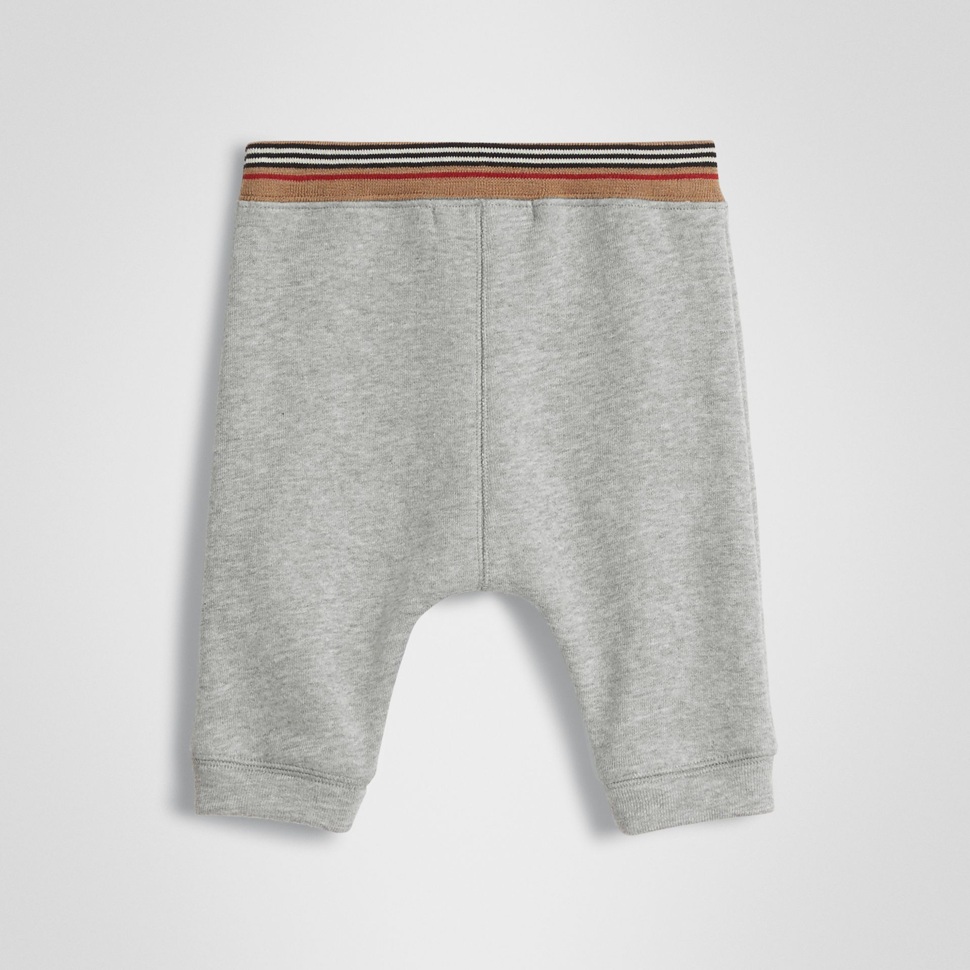 Icon Stripe Cotton Jersey Sweatpants in Grey Melange - Children | Burberry United Kingdom - gallery image 3