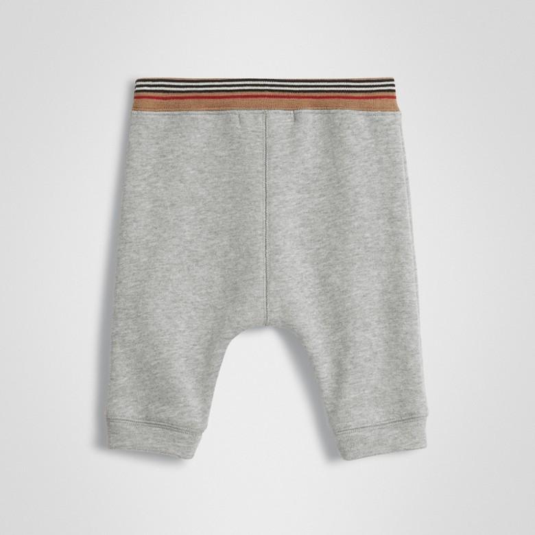 Burberry - Pantalon de survêtement en jersey de coton à rayures iconiques - 4