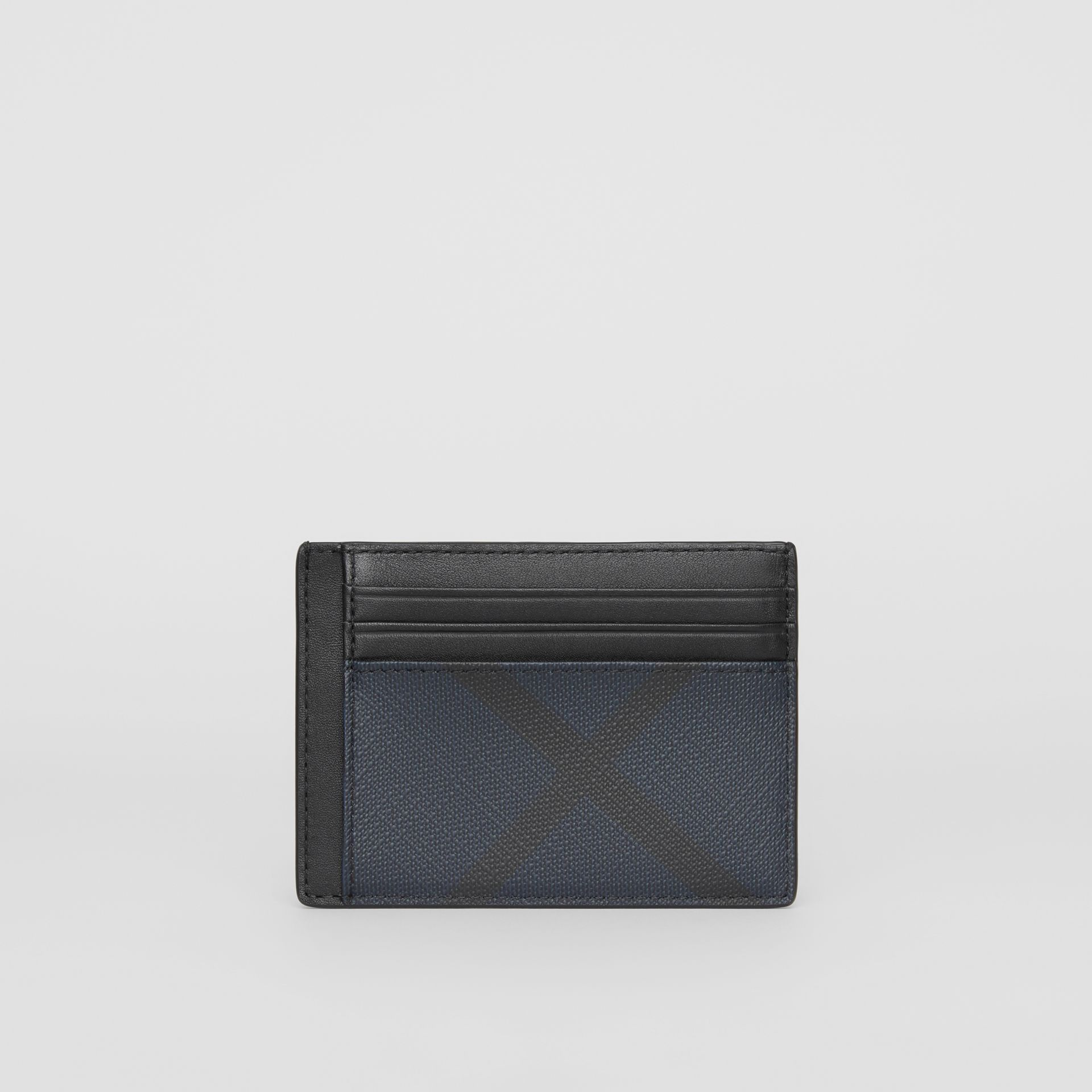 London Check Card Case in Navy/black - Men | Burberry - gallery image 2
