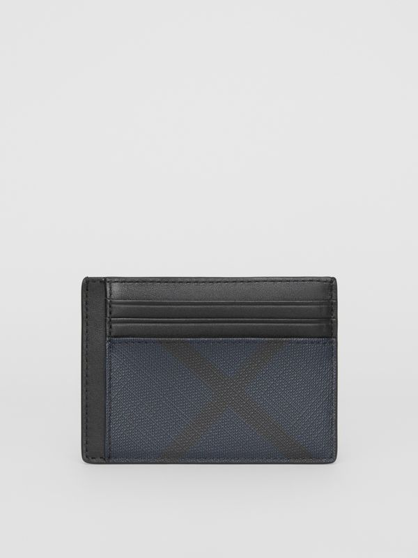 London Check Card Case in Navy/black - Men | Burberry - cell image 2