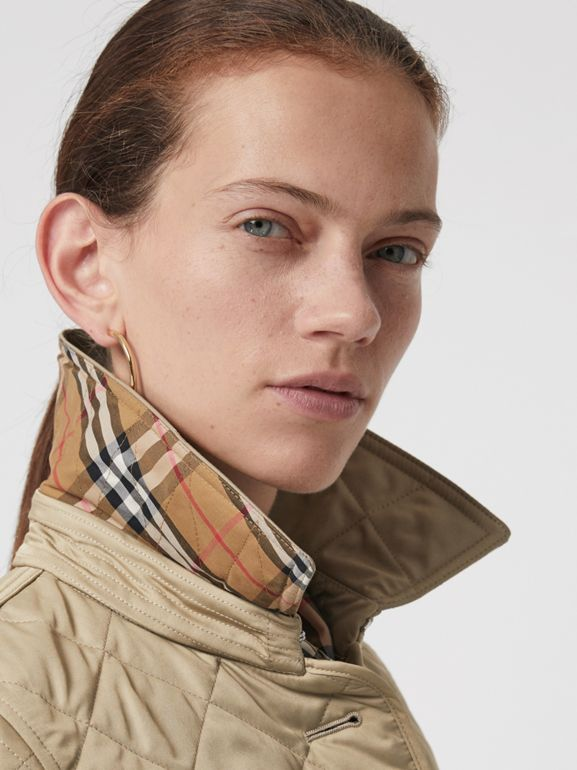 Diamond Quilted Jacket in Canvas - Women | Burberry - cell image 1