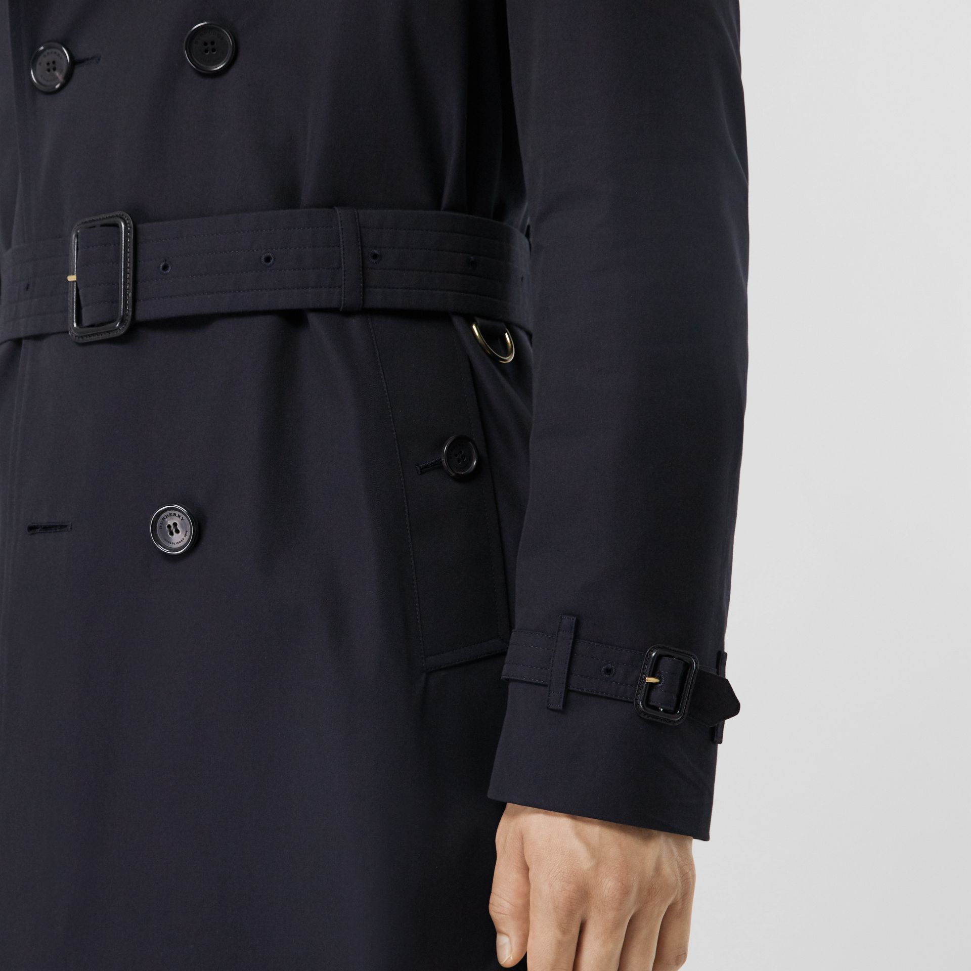 The Chelsea – Long Trench Coat in Navy - Men | Burberry Canada - gallery image 3