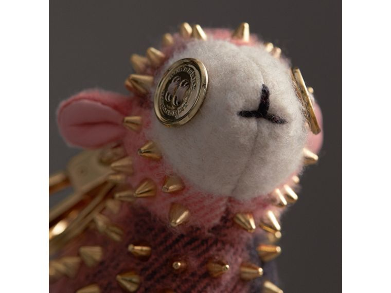 Wendy The Sheep Cashmere Charm in Coral | Burberry United Kingdom - cell image 1