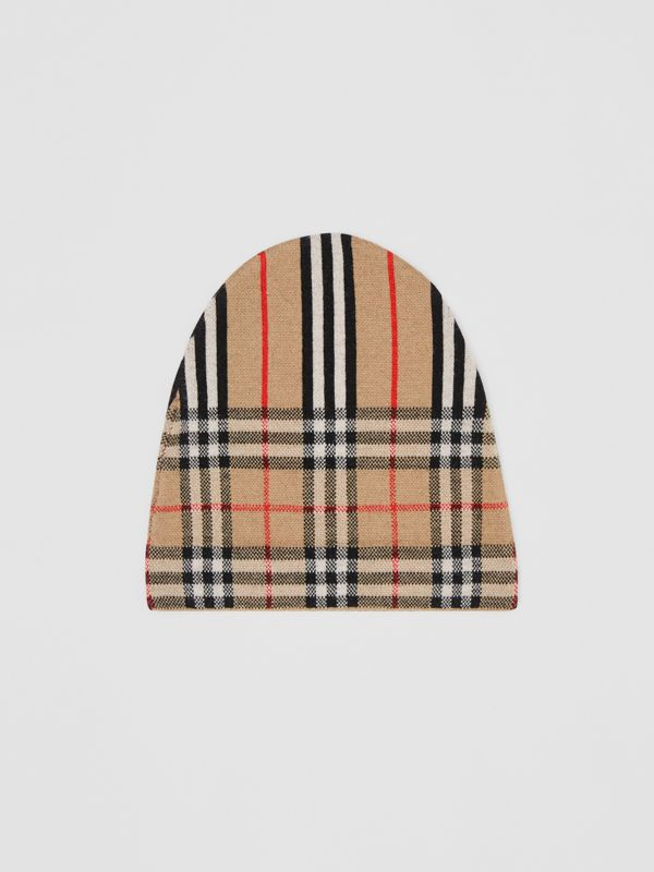 Vintage Check and Icon Stripe Wool Two-piece Gift Set in Archive Beige - Children | Burberry - cell image 2