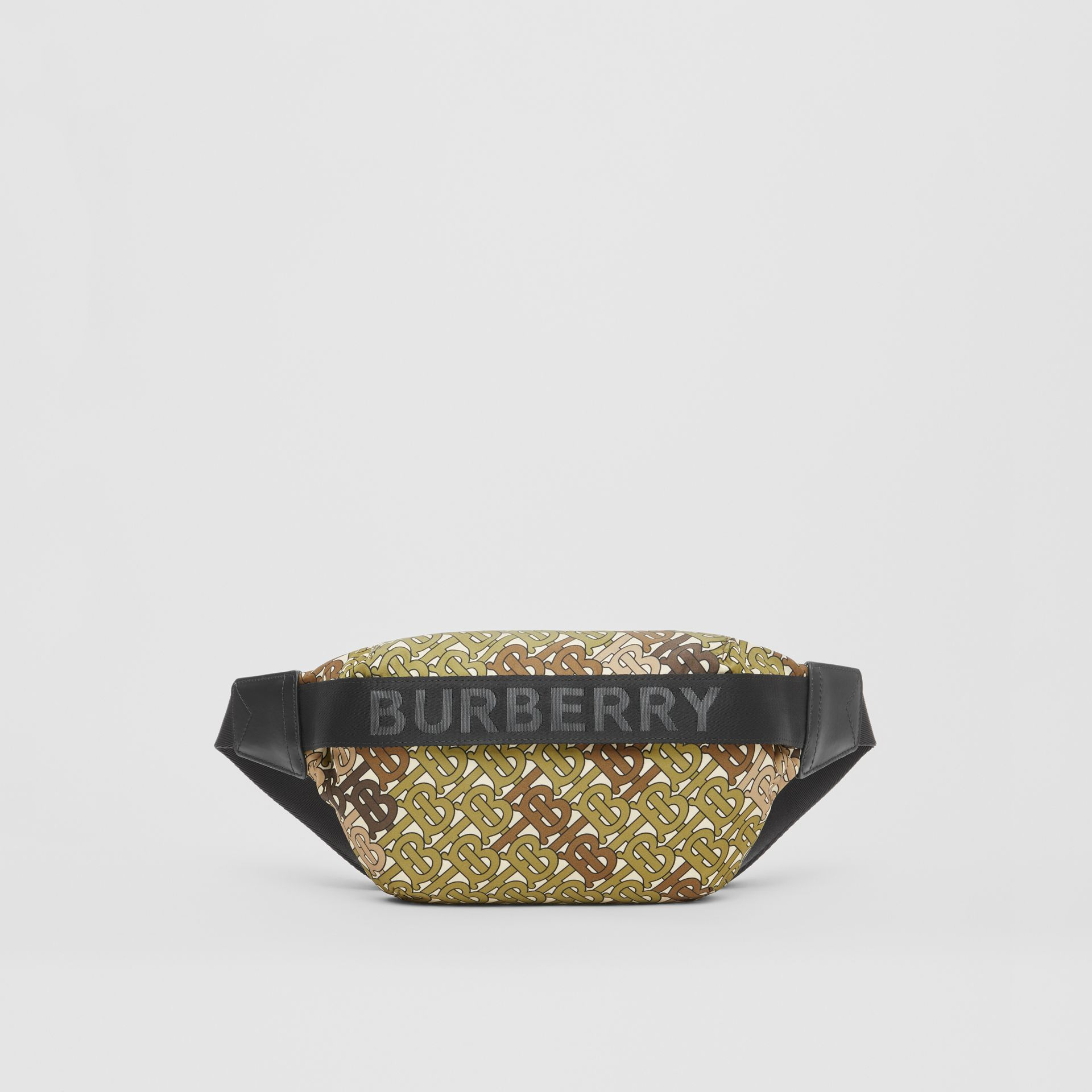 Medium Monogram Print Bum Bag in Khaki Green - Women | Burberry - gallery image 0