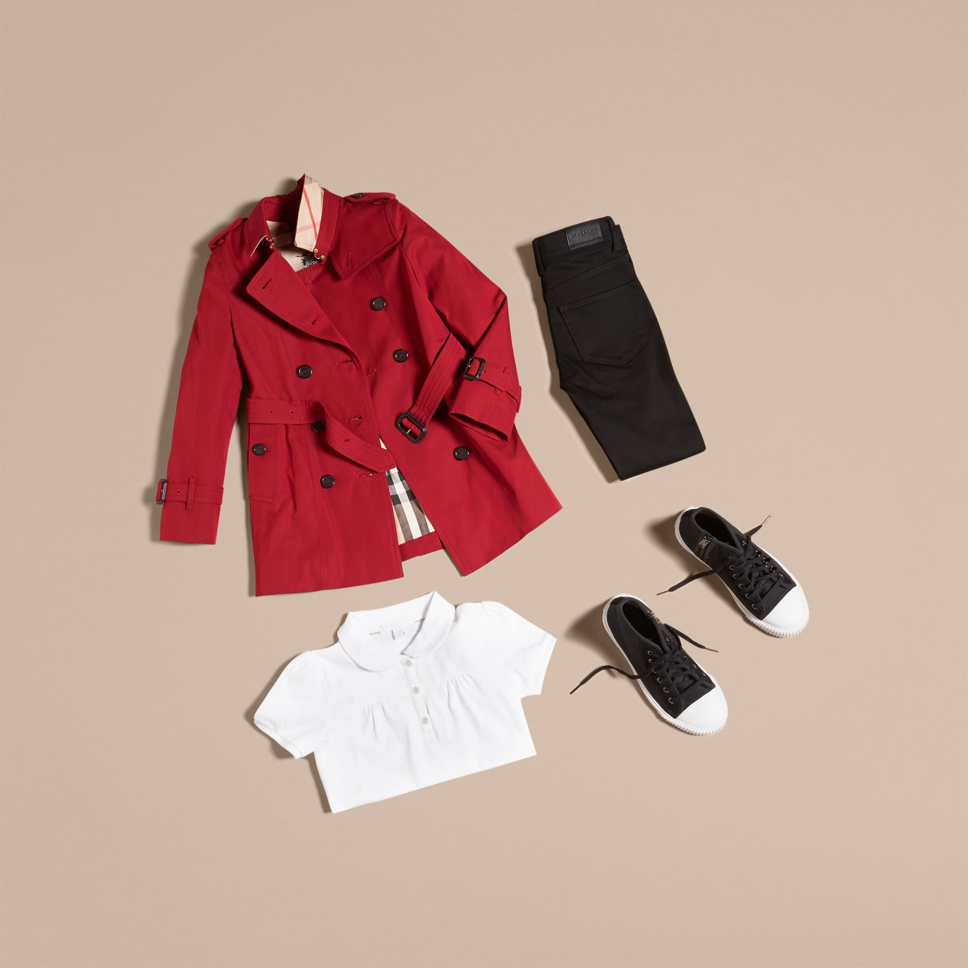 The Sandringham – Heritage Trench Coat in Parade Red - Girl | Burberry - gallery image 5