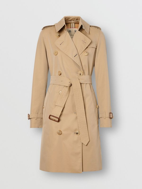 The Mid-length Kensington Heritage Trench Coat in Honey - Women | Burberry United Kingdom - cell image 3
