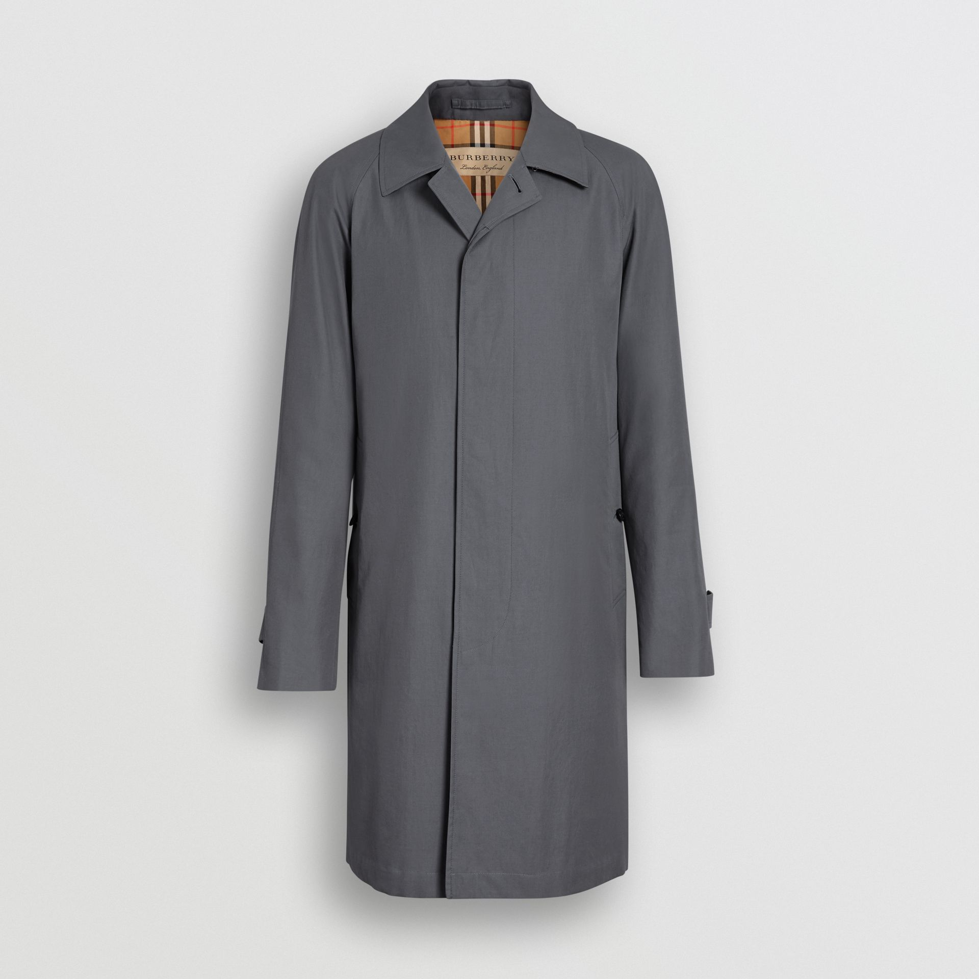 The Camden Car Coat in Mid Grey - Men | Burberry United Kingdom - gallery image 3