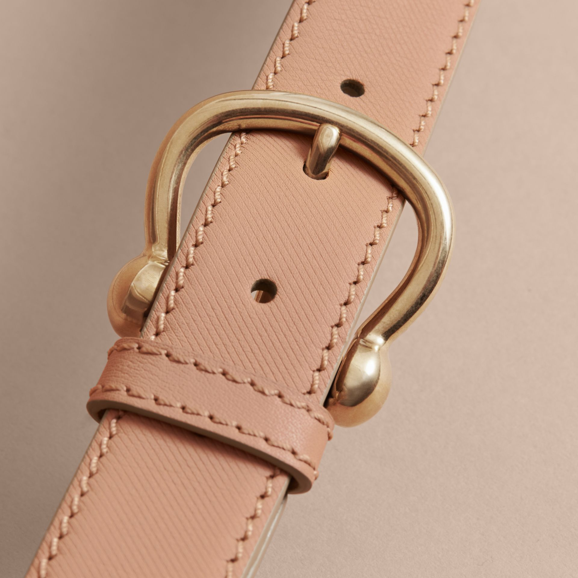 Trench Leather Belt in Honey - Women | Burberry - gallery image 2