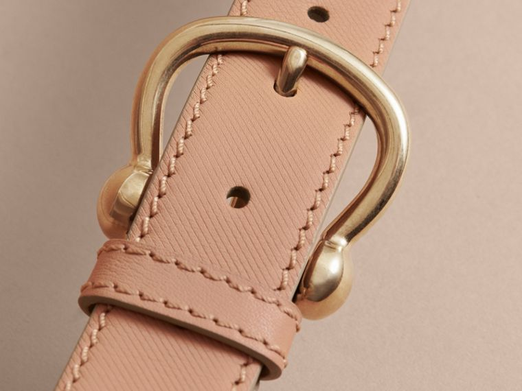 Trench Leather Belt in Honey - Women | Burberry - cell image 1