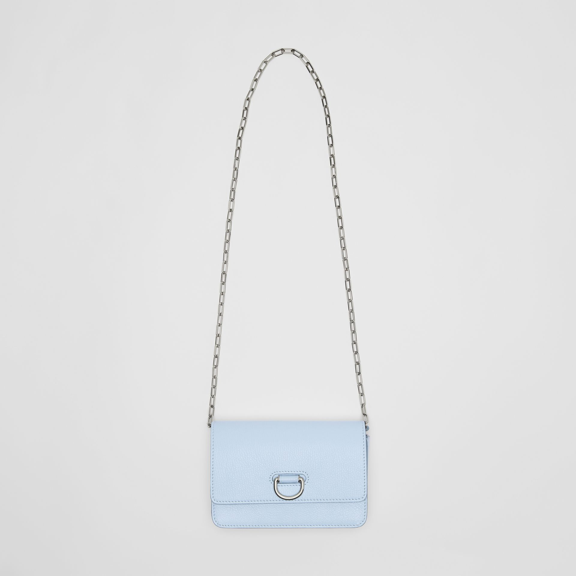 The Mini Leather D-ring Bag in Pale Blue - Women | Burberry United Kingdom - gallery image 3