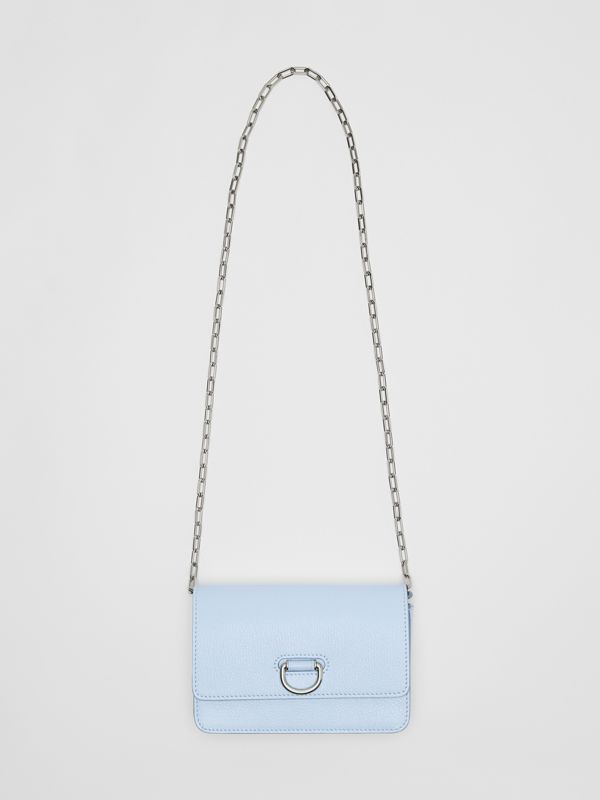 The Mini Leather D-ring Bag in Pale Blue - Women | Burberry - cell image 3