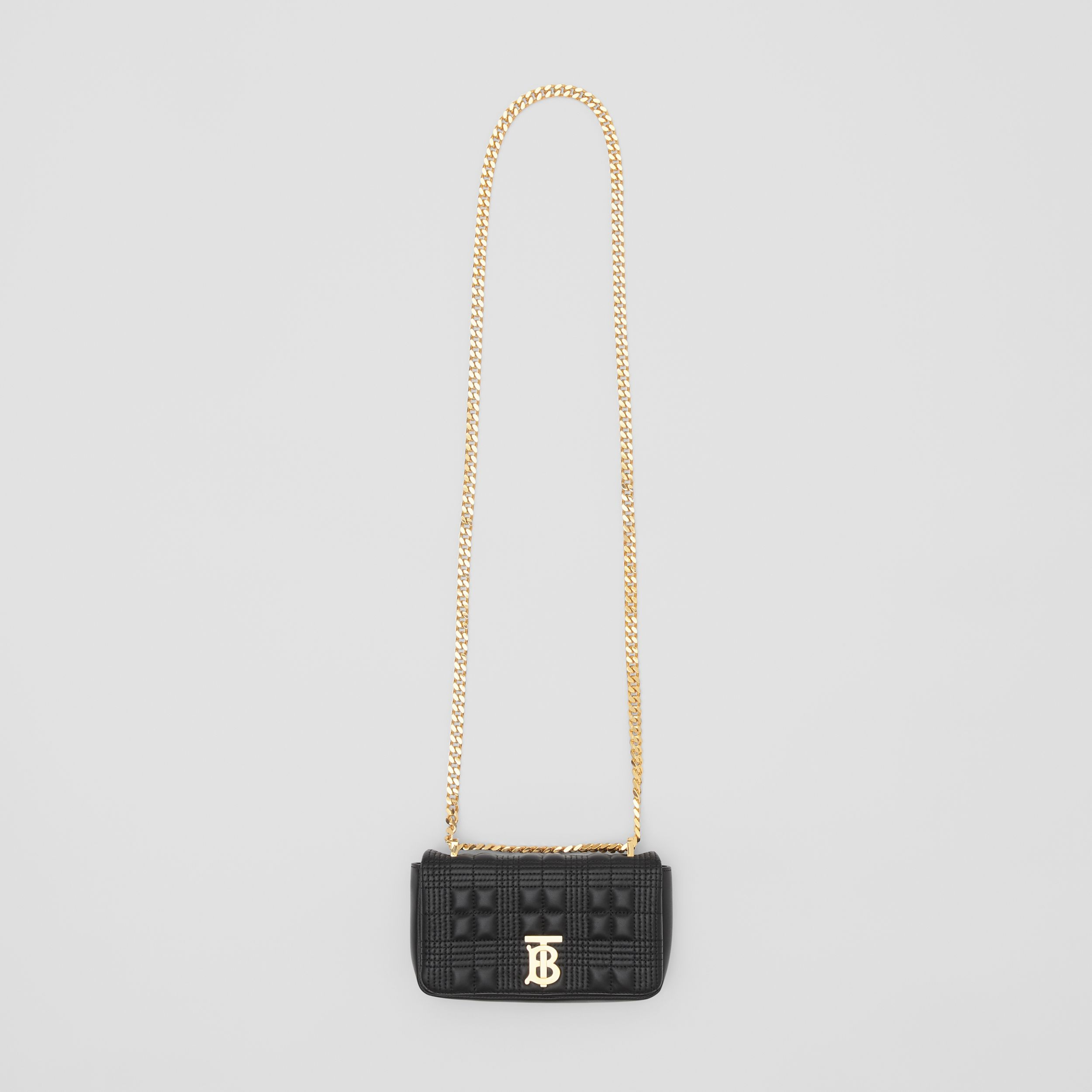 Mini Quilted Lambskin Lola Bag in Black - Women | Burberry - 4