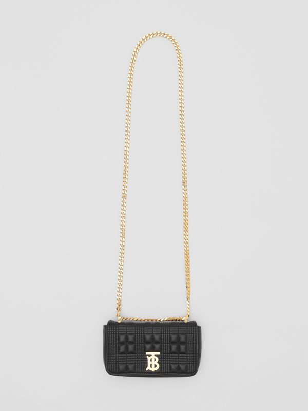 Mini Quilted Lambskin Lola Bag in Black/light Gold - Women | Burberry - cell image 3