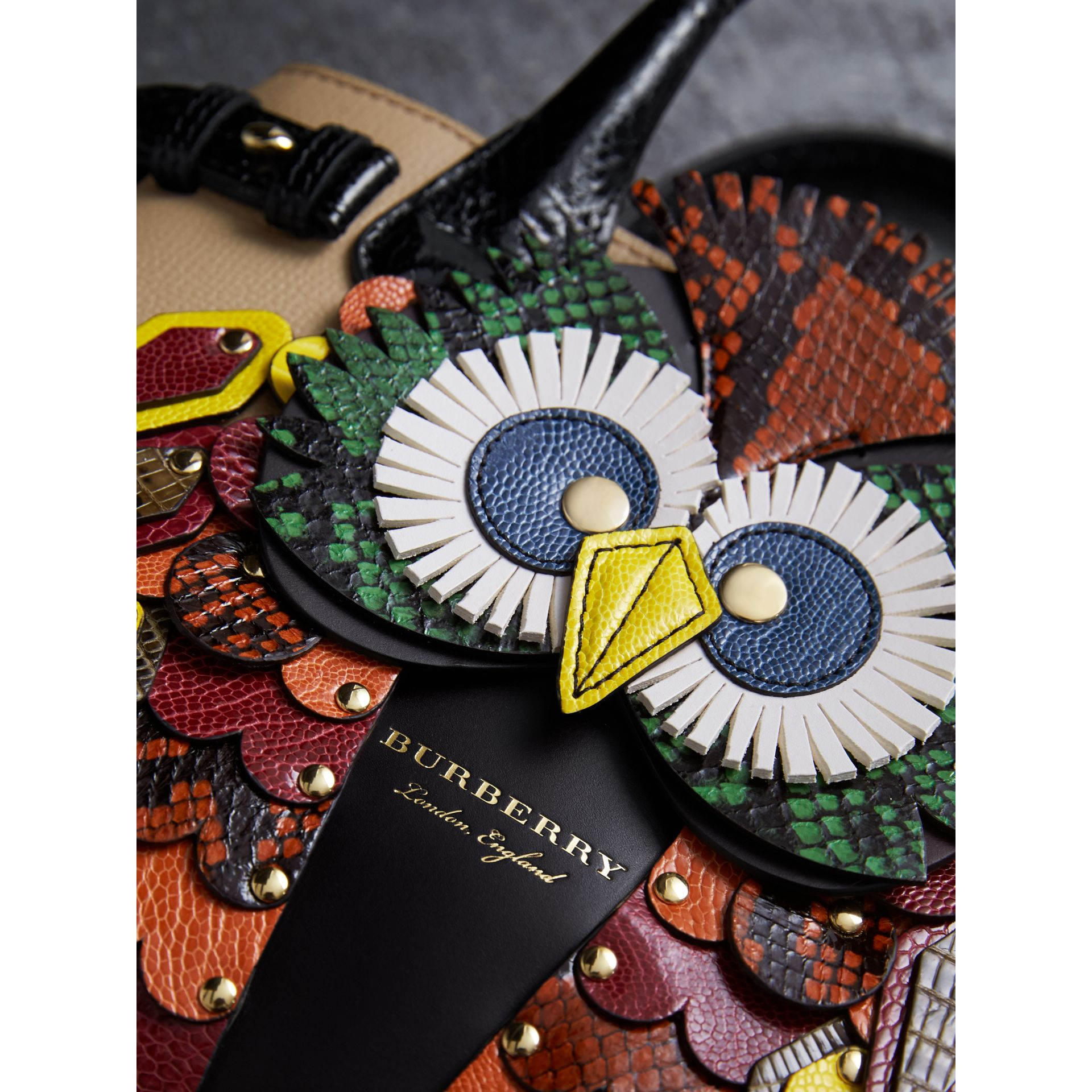 The Small Banner in Leather with Beasts Motif - Women | Burberry - gallery image 2