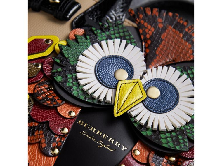 The Small Banner in Leather with Beasts Motif - Women | Burberry - cell image 1