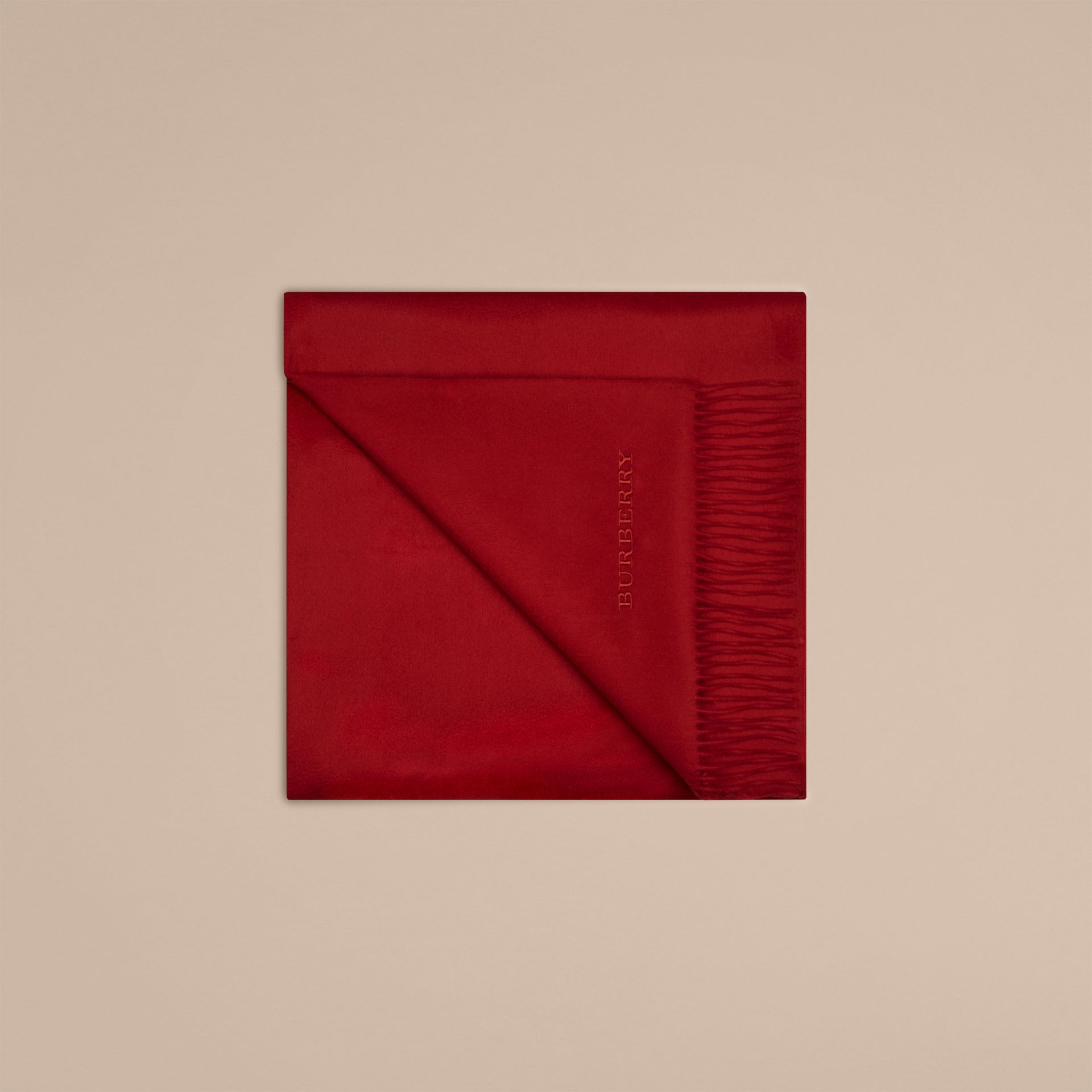 Cashmere Blanket in Parade Red - gallery image 4