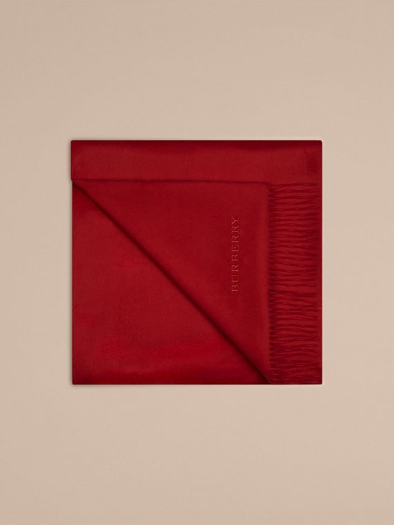 Cashmere Blanket in Parade Red | Burberry - cell image 3
