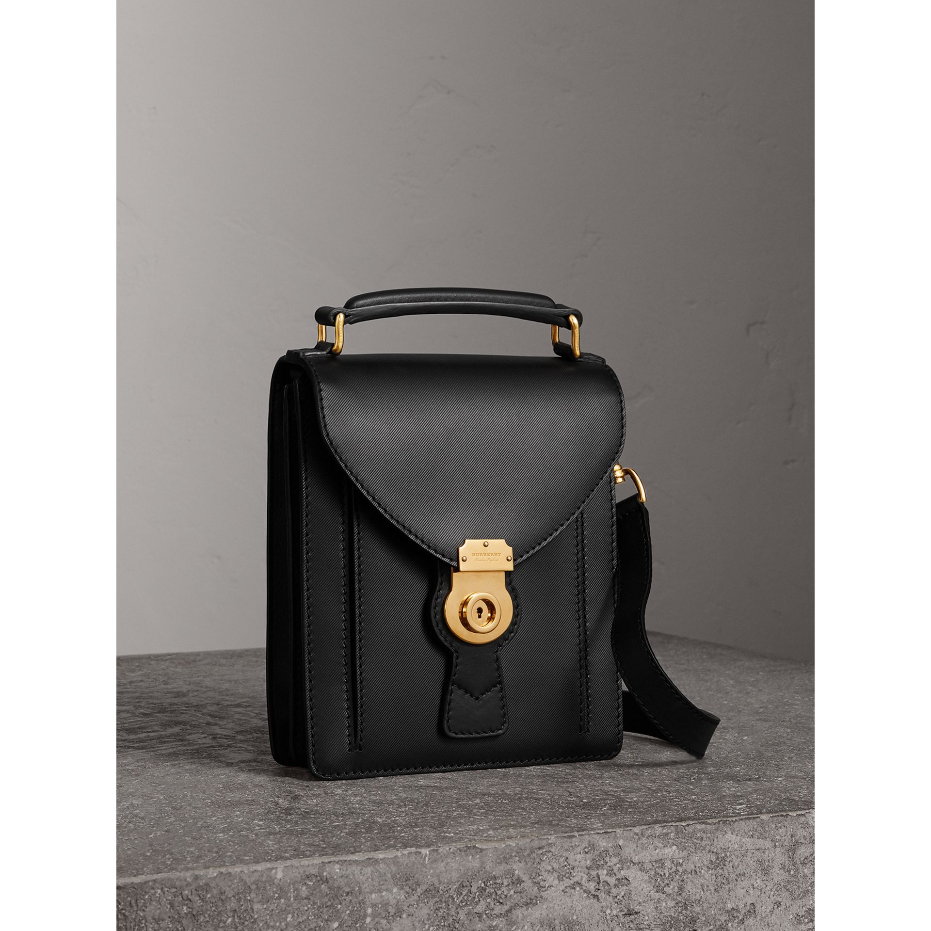 The Small DK88 Satchel in Black - Men | Burberry - gallery image 7