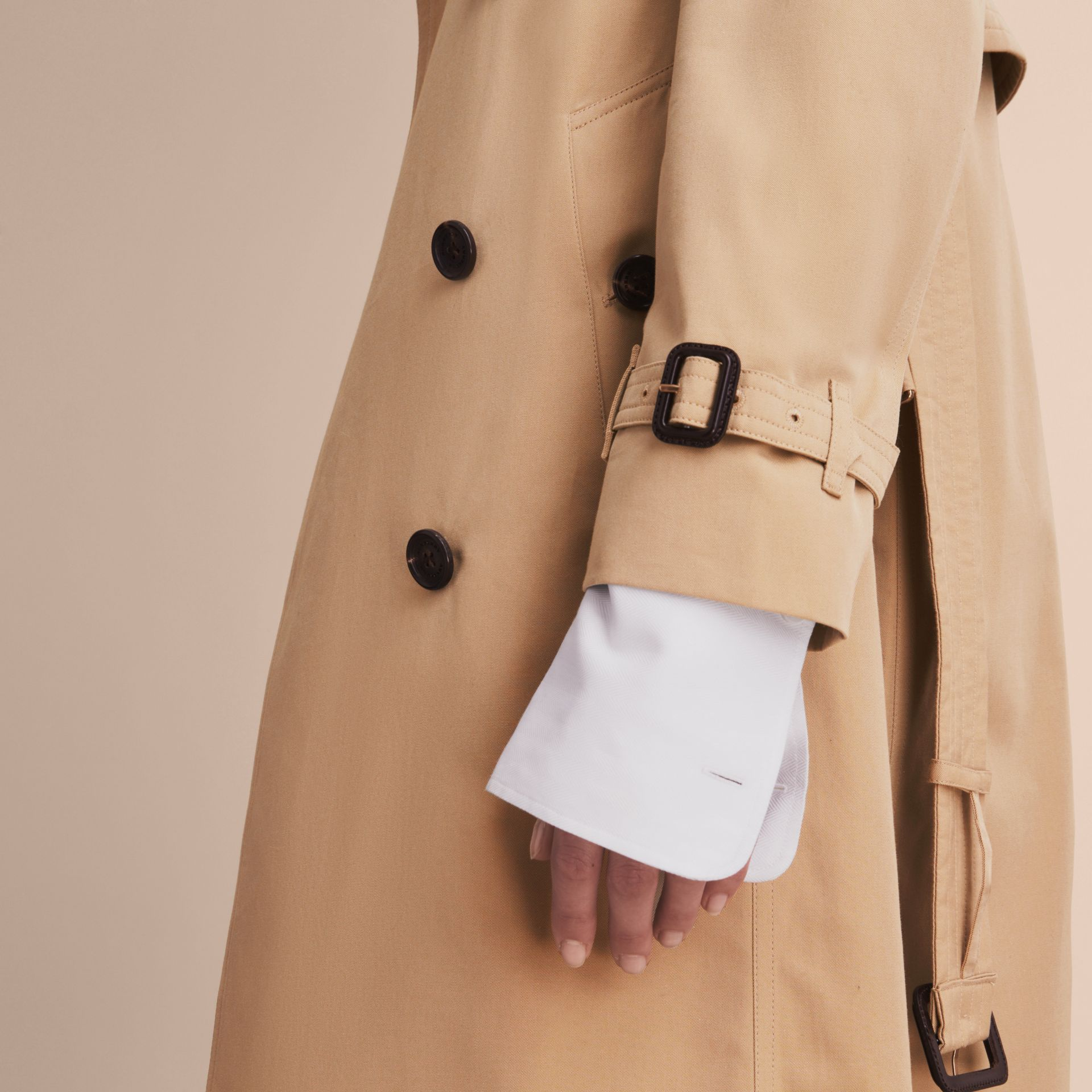 Honey The Kensington – Extra-long Heritage Trench Coat Honey - gallery image 6