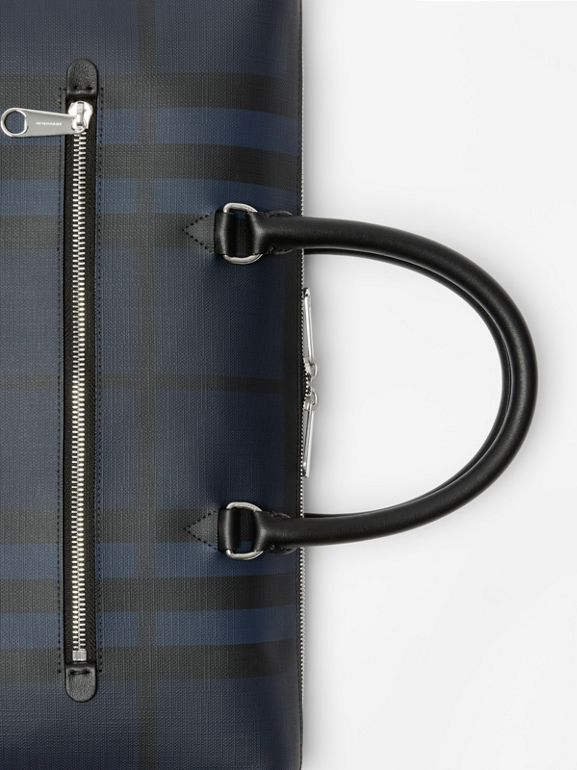 Large London Check Briefcase in Navy/black - Men | Burberry United States - cell image 1