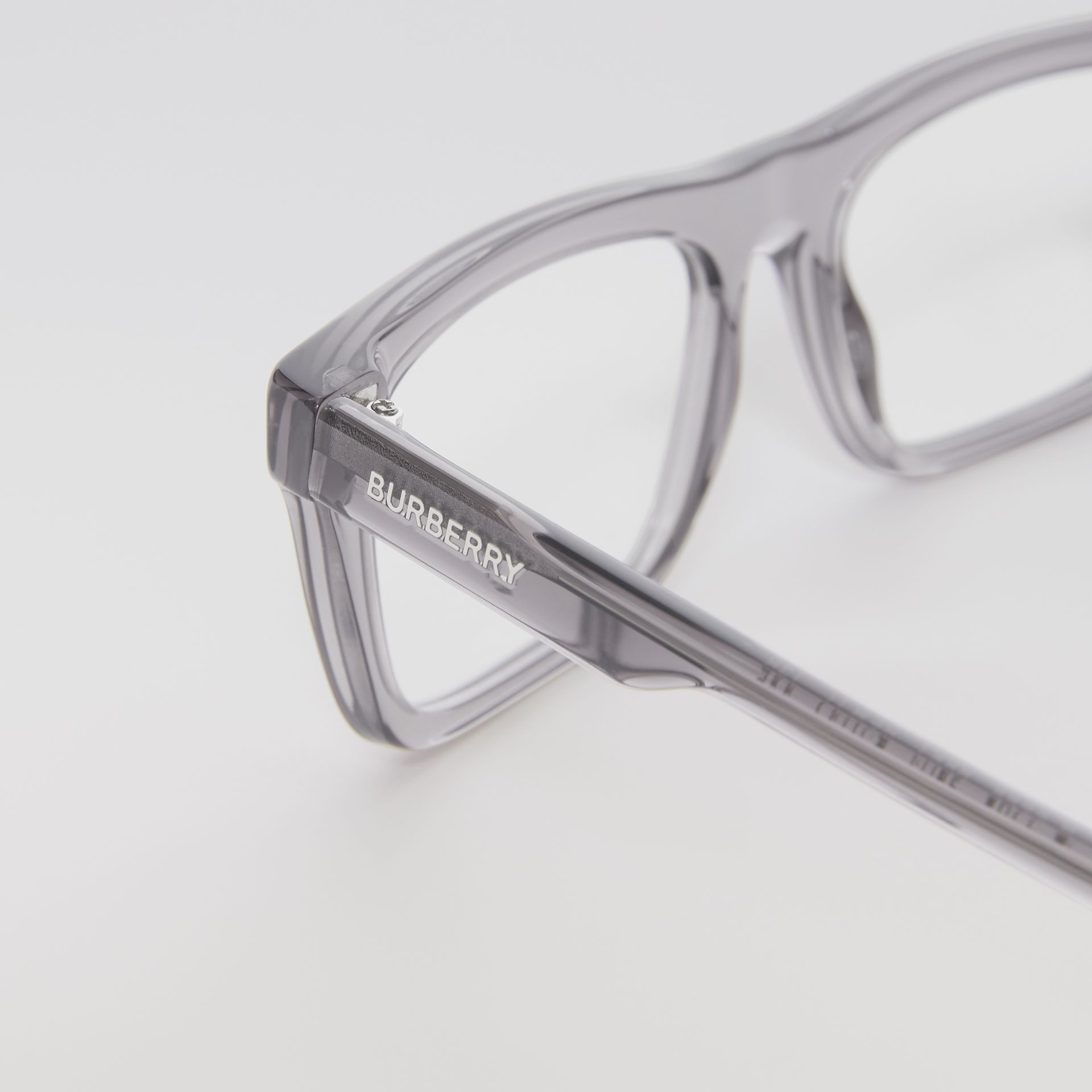 Rectangular Optical Frames in Grey - Men | Burberry Australia - gallery image 1